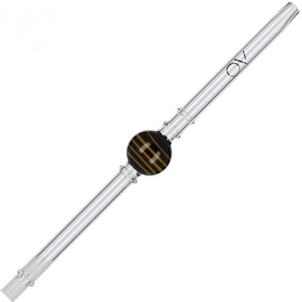 AO Glasmundstück Lollipop Twist Schwarz Gelb
