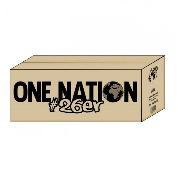 One Nation Premium Shisha Cubes 26er Naturkohle 20kg