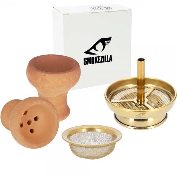 Smokezilla Kaminkopfset inkl. Kopfsieb Gold