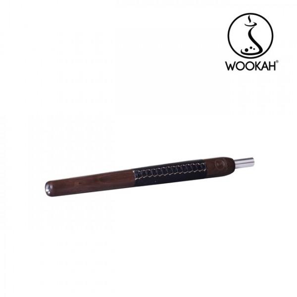 Wookah Holzmundstück Walnut Leder