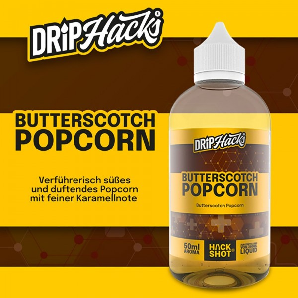 DRIP HACKS Butterscotch Popcorn Aroma 50ml