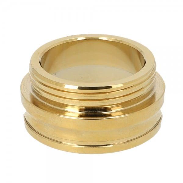 INVI Tesseract Gewinde Edelstahl Shiny Gold