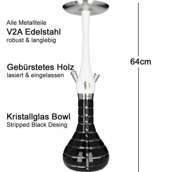 Wookah White Nox Striped Black Mastercut V2