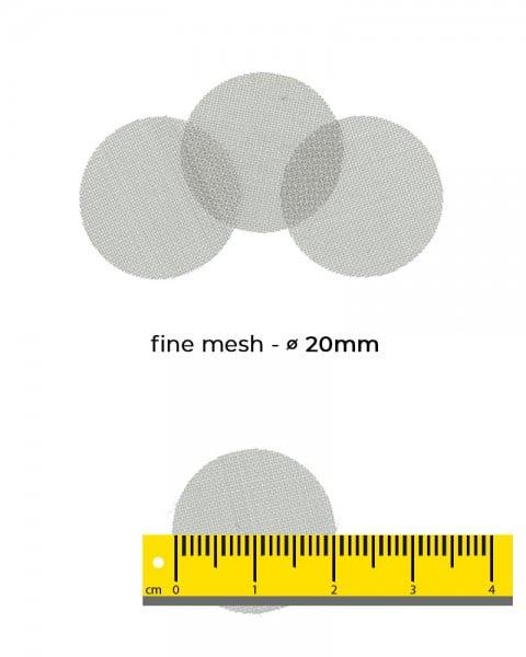 Aryva Fine Mesh Einlegesieb Ø=20mm - 100er-Pack