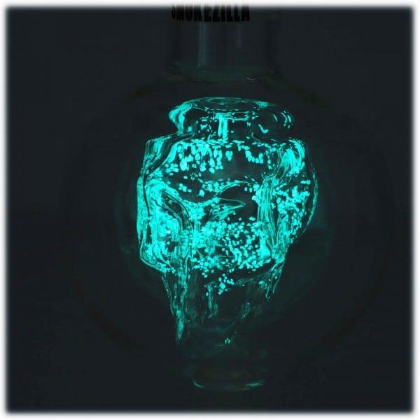 Smokezilla Molassefänger Glow Skull Blau 18/8