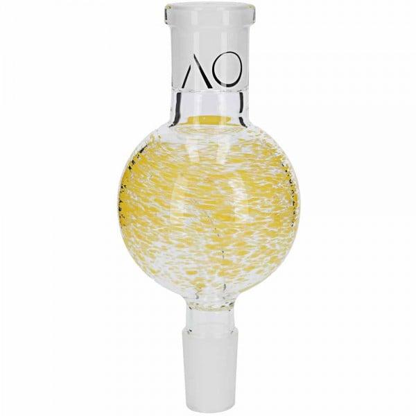 AO Glas Molassefänger 18/8 Kugel 60mm Dots Yellow