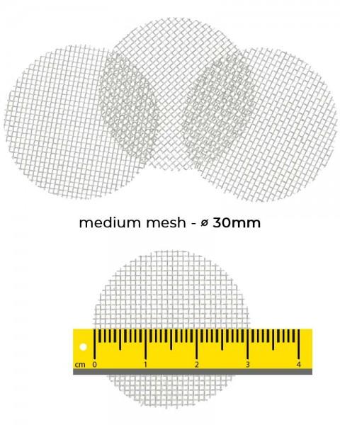Aryva Medium Mesh Einlegesieb Ø=30mm - 100er-Pack