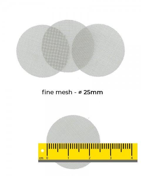 Aryva Fine Mesh Einlegesieb Ø=25mm - 100er-Pack
