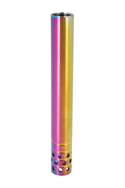 INVI Wasserrohr Edelstahl Rainbow Gelocht 15cm