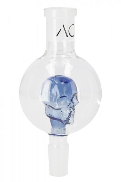 AO Glas Molassefänger 18/8 Skull Blue