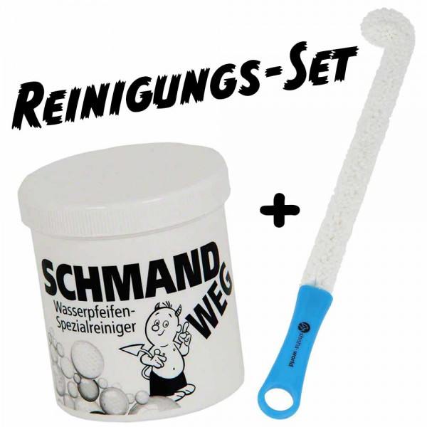 Shisha-World Reinigungsset Schmandweg + Pro Brush Flex Blau