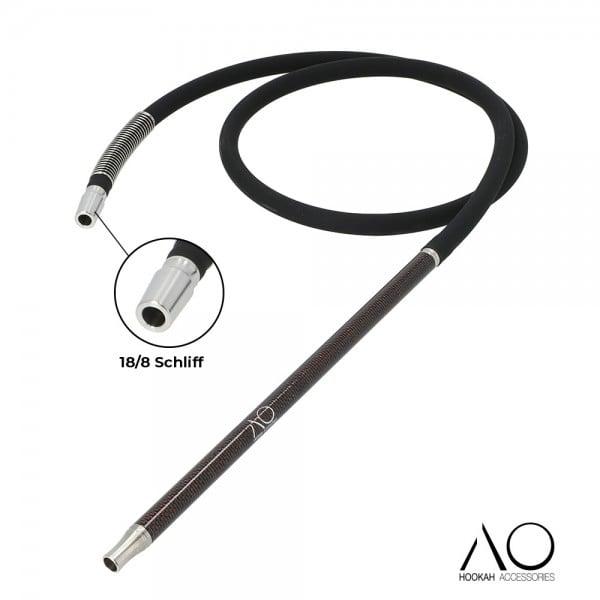 AO Carbon Schlauchset Schwarz-Rot 18/8