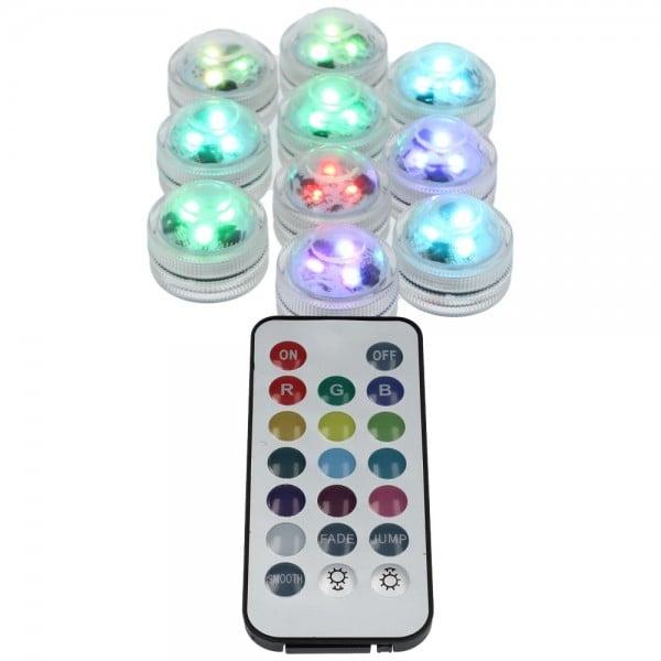 AO Hookah ECLIPSE LED-Mini Color 10er Pack mit Fernbedienung