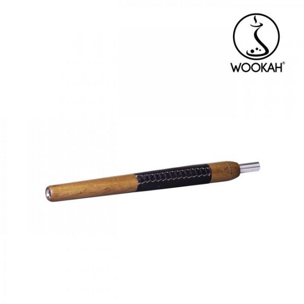 Wookah Holzmundstück Iroko Leder