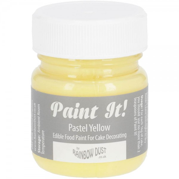 Rainbow Dust Paint-It Lebensmittelfarbe Pastel Yellow