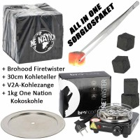 Brohood Firetwister 500W ALL IN ONE Kohleanzünder-Komplettset