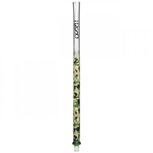 Glasmundstück Hasso Camouflage Grün Flach