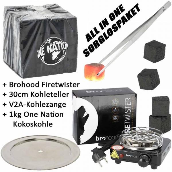 Kohleanzünder AO Blazer 500W ALL IN ONE Kohleanzünder-Komplettset