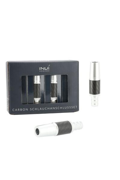 INVI Schlauchanschluss-Set Alu-Carbon Silber 18/8