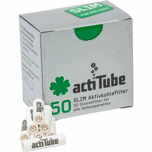 actiTube Slim Aktivekohlefilter 50 Stück