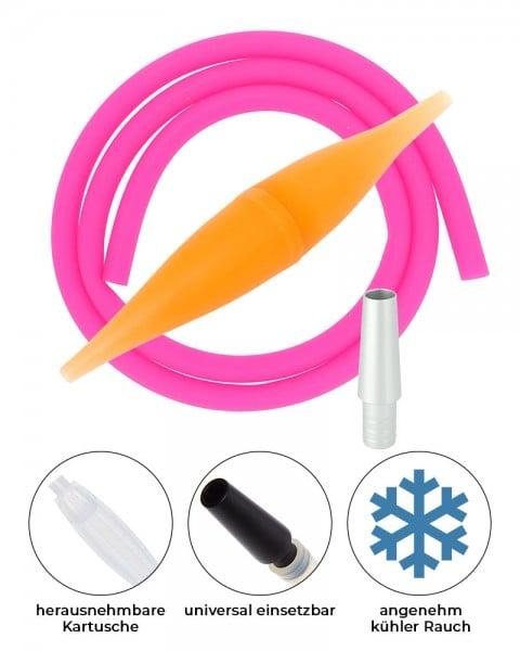 AO ICE Bazooka 2.0 Schlauchset Orange Pink ohne Schliff
