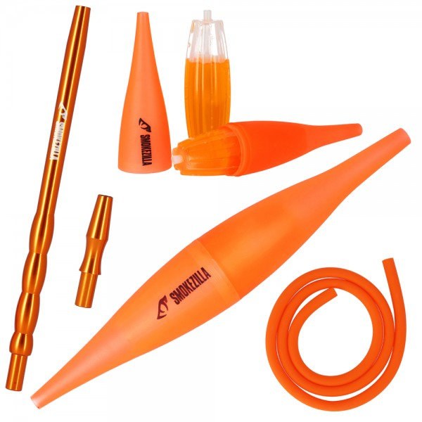 Smokezilla COOLIN Ice Bazooka + Alumundstück Set Orange