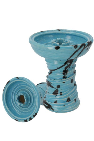 Stone Hookah Tabakkopf Fastball Striped Light Blue