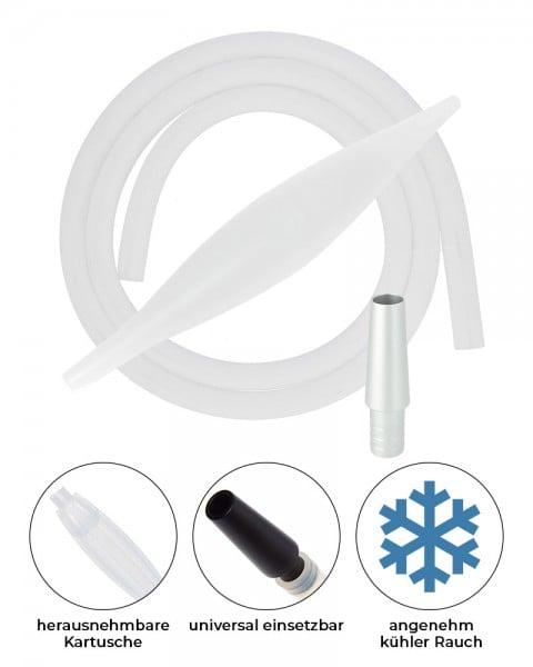 AO ICE Bazooka 2.0 Schlauchset Weiss Transparent Silber
