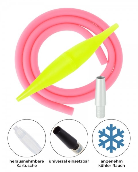 AO ICE Bazooka 2.0 Schlauchset Gelb Rosa ohne Schliff