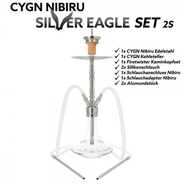 CYGN Nibiru Silver Eagle 2 Schlauch Edelstahl