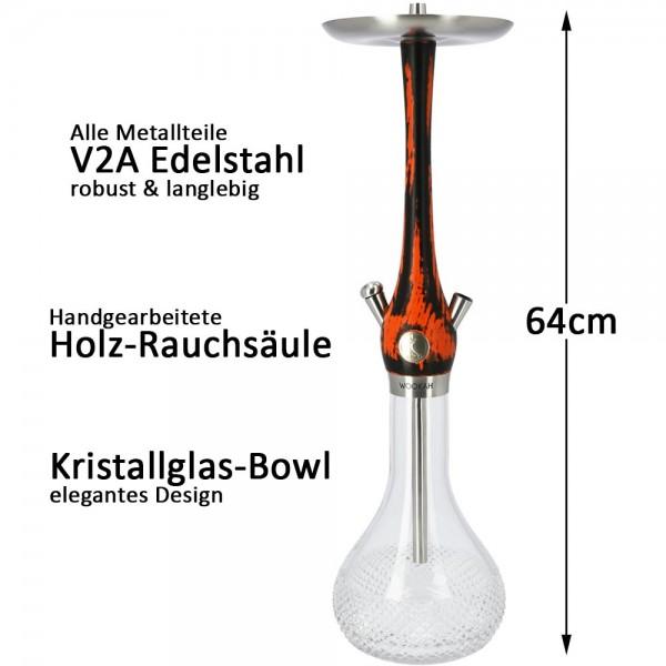 Wookah Schwarz Orange Quills