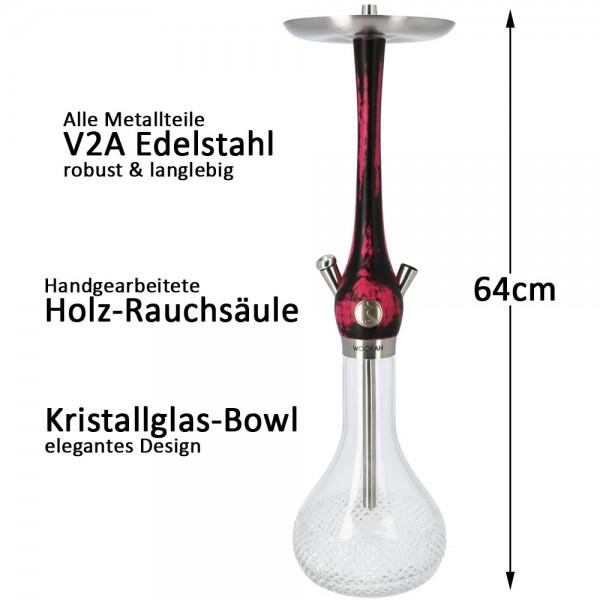 Wookah Schwarz Pink Quills