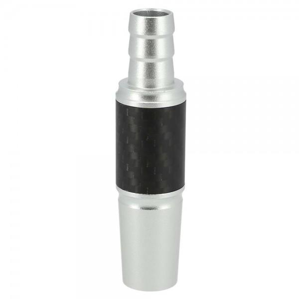 INVI Schlauchanschluss Alu-Carbon Silber 18/8