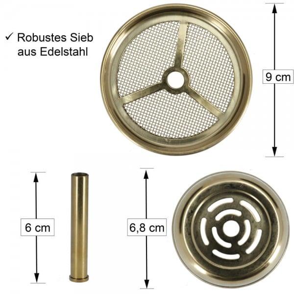 AO Kaminaufsatz Edelstahl Gold