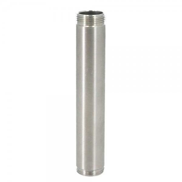 INVI Wasserrohr Edelstahl Silber 9cm