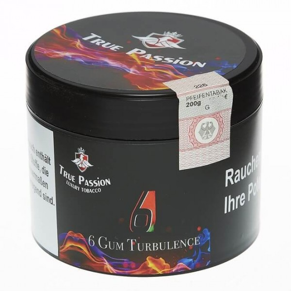 True Passion Tobacco 6 Gum Turbulence 200g