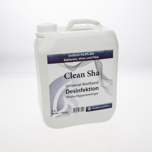 Reiniger Desinfektionsmittel Clean Sha Shishaworld 5000ml