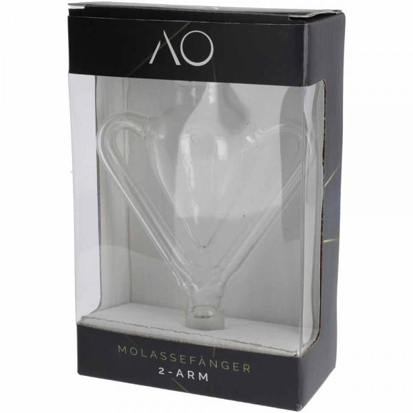 AO Glas Molassefänger 18/8 2-Arms Clear