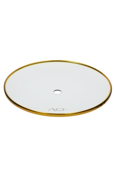 AO Glas-Kohleteller Gold