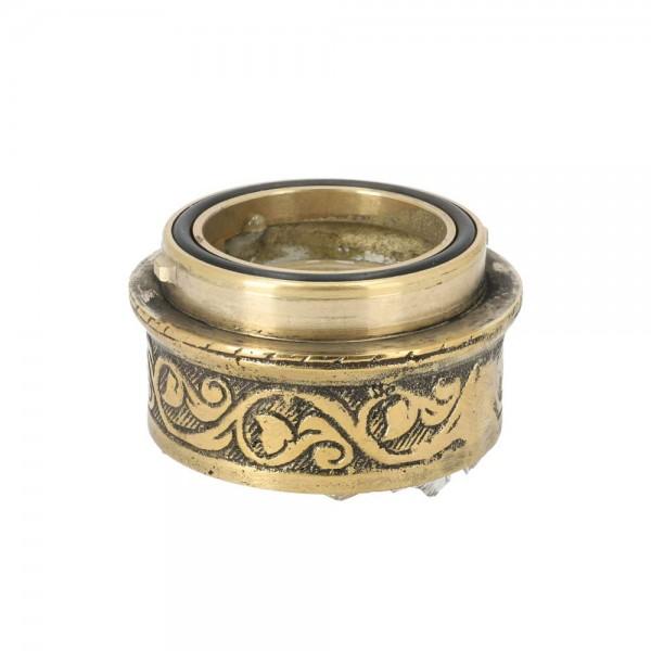 Efendi Tradi-Shisha Gewinde zum Selbstlösen Messing Gold
