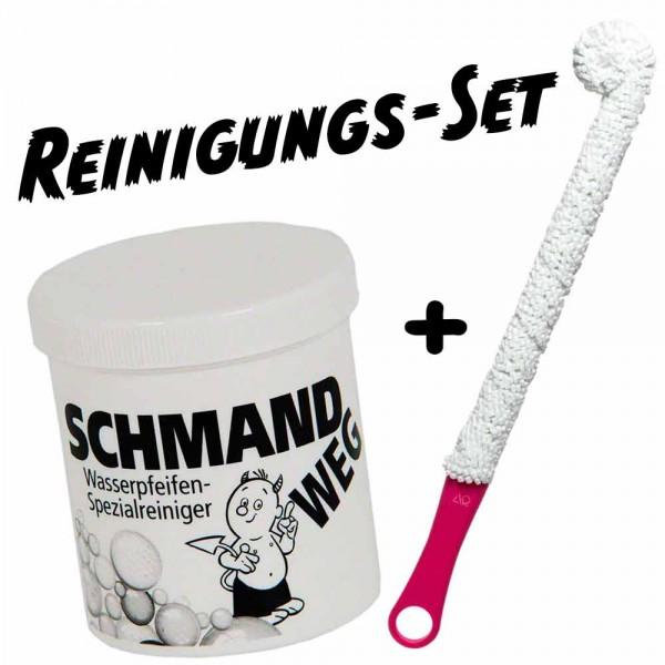 Shisha-World Reinigungsset Schmandweg + AO Boobie Brush Pink