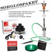 Smokezilla Baragon Edelstahl Glow Grün Complete Bright Set