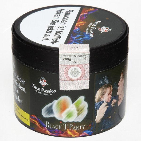 True Passion Tobacco Black T Party 200g
