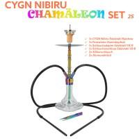 CYGN Nibiru Chamäleon 2 Schlauch Edelstahl Rainbow