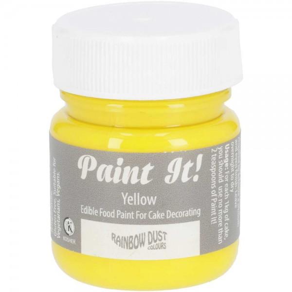 Rainbow Dust Paint-It Lebensmittelfarbe Yellow