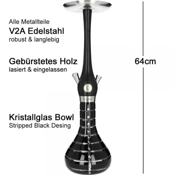 Wookah Nox Striped Black Mastercut V2