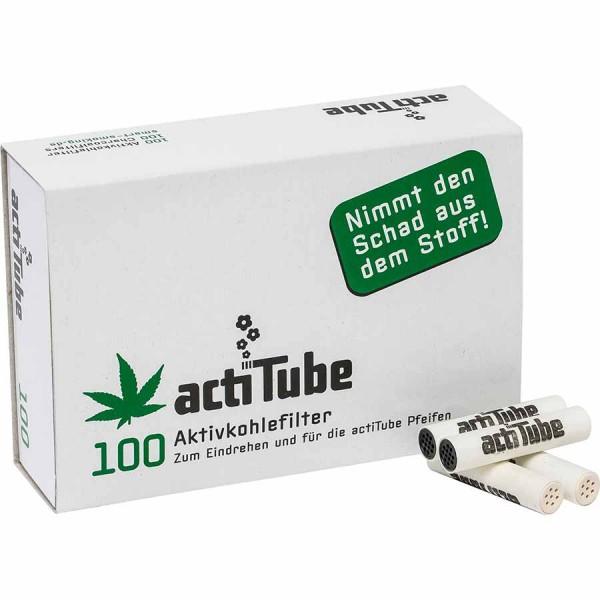 actiTube Aktivkohlefilter Patrone 100 Stück