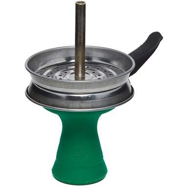 AMY Deluxe Hot Pan Set 7-Loch Silikon Grün