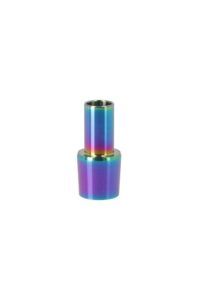 INVI Schlauchanschluss für Paradox Edelstahl Rainbow Blue 18/8 Kurzschliff