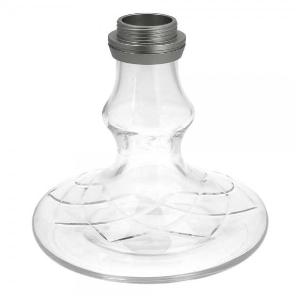 Ersatzglas Smokezilla Baragon Alu Anthrazit Clear